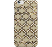 Gold Lattice Effect Decorative Design iPhone Case/Skin
