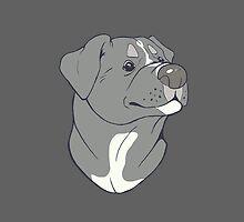 Pit bull Pride-Blue by cinderwolfeh