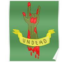 Undead Zombie Design Poster