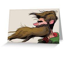 Beardie Greeting Card
