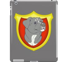 Pit Bull Pride-  Blue with Crest iPad Case/Skin