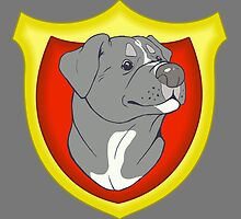 Pit Bull Pride-  Blue with Crest by cinderwolfeh