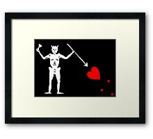 Edward Teach Pirate Flag Framed Print