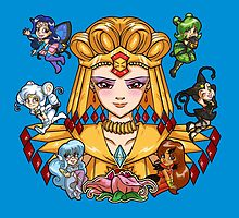 Sailor Galaxia and the Animates by Zorilita