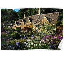 Ancient Cotswold Cottages at Bibury. Poster
