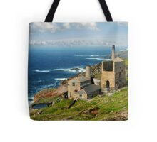 Cornish Coast from Trewellard towards Pendeen Tote Bag