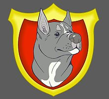 Pit Bull Pride - Blue Point with Crest by cinderwolfeh