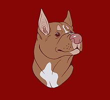 Pit Bull Pride- Red Point by cinderwolfeh