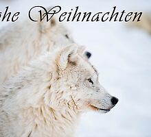 Arctic Wolf Christmas Card - German - 11 by WolvesOnly