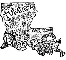 Hipster Tulane/Louisiana Outline by alexavec