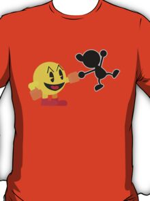 Pac-Man and Mr. Game and Watch Vector T-Shirt