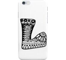 "Hipster Letter ""L"" Zentangle iPhone Case/Skin"
