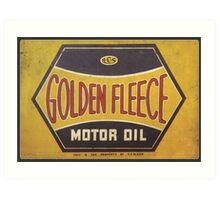 Golden Fleece Motor Oil Art Print