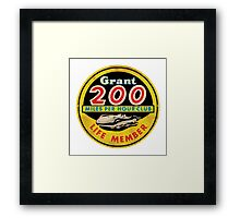 Grant 200 MPH Club Framed Print