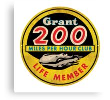 Grant 200 MPH Club Canvas Print