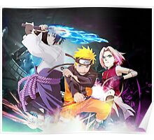 Team 7 Naruto, Sasuke and Sakura Poster