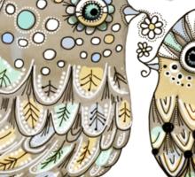 Brown Paper Birds Sticker