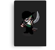 Pixelated Swordsman Canvas Print