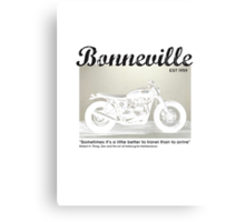 Triumph Bonneville, Zen and the Art of Motorcycle Maintenance Canvas Print