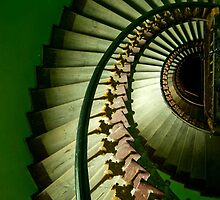 Spiral staircase in green by JBlaminsky