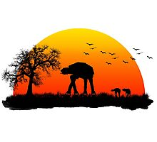 AT-AT. Left to roam free Photographic Print