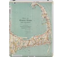 Vintage Map of Cape Cod (1917)  iPad Case/Skin