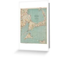 Vintage Map of Cape Cod (1917)  Greeting Card