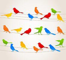 Bird on a wire by Aleksander1