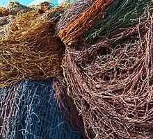 Jumbled heap of Fishing nets by DavidMay