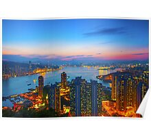 Hong Kong sunset Poster