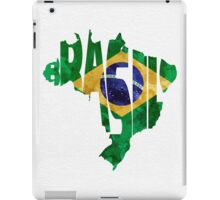 Brazil Typographic Map Flag iPad Case/Skin