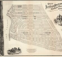 Vintage Map of Marthas Vineyard (1873) by BravuraMedia