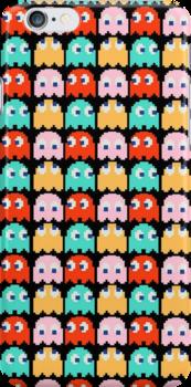 Pacman - All the Ghosts - Vintage by Rastaman
