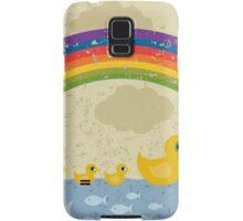 Ducks under a rainbow Samsung Galaxy Case/Skin