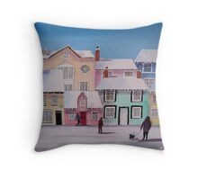 Snow on the Houses 2 Throw Pillow