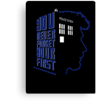 You Never Forget Your First - Doctor Who 8.5 John Hurt Canvas Print