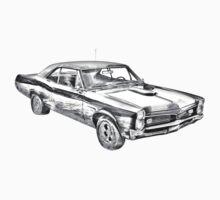 1967 Pontiac GTO Muscle Car Illustration Kids Clothes