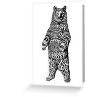 Ornate Grizzly Bear Greeting Card