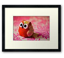 Kimono owl Framed Print