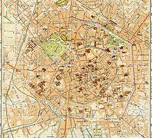 Vintage Map of Milan Italy (1914) by BravuraMedia
