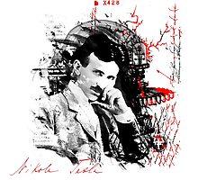 Nikola Tesla by vivalarevolucio