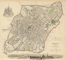 Vintage Map of Moscow (1836) by BravuraMedia