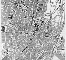 Vintage Map of Munich Germany (1884) by BravuraMedia