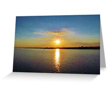 Star-burst Sunset Greeting Card
