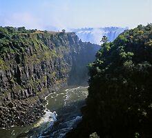 The Zambezi Gorge and the Victoria Falls by Alex Cassels