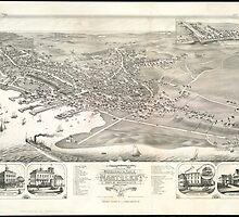Vintage Pictorial Map of Nantucket (1881) by BravuraMedia