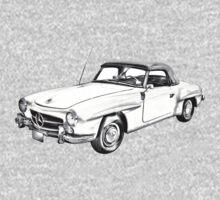Mercedes Benz 300 sl Illustration Kids Clothes