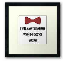 Doctor Who: I Will Always Remember Framed Print