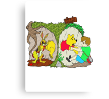 Pooh gets bit Canvas Print