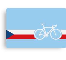 Bike Stripes Czech Republic Canvas Print